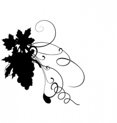 Grape silhouette vector