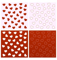 Valentine seamless backgrounds vector image