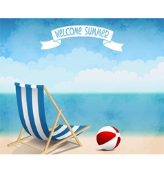 Summer beach vector image