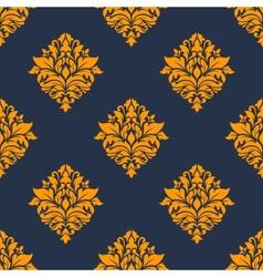 Retro orange seamless pattern vector
