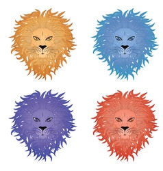 Lion face4 vector