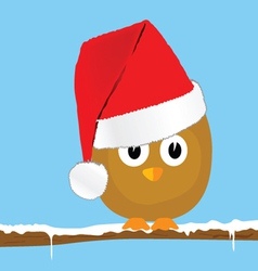 Funny animal with christmas hat art vector