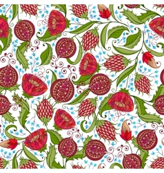 Pomegranate pattern vector