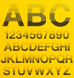 Halftone lines alphabet letters vector
