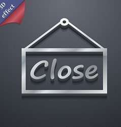 Close icon symbol 3d style trendy modern design vector