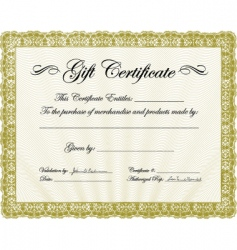 gold gift certificate template vector