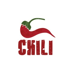 Grunge chili pepper design template vector