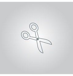 Retro scissors icon vector