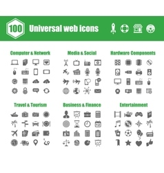 Universal web icons vector image