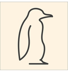 One line penguin vector image