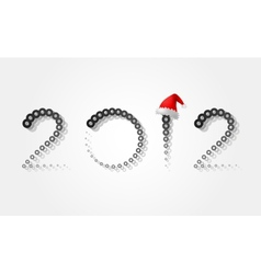 2012 christmas new year vector image