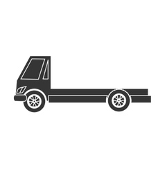 Truck towing car icon vector
