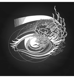 Abstract graphic eye vector image vector image