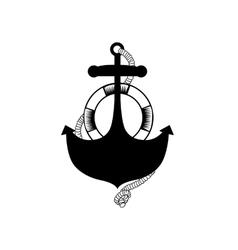 Anchor stencil concept vector image