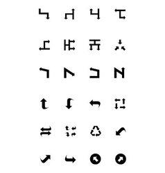 Arrows icons 8 vector
