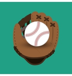 Baseball club glove and ball design vector
