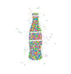 bottle abstract soda vector image vector image