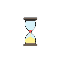 Business time management and deadline solid icon vector