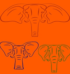 Cartoon elephants vector image vector image
