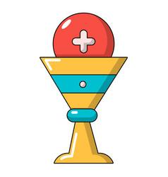 church goblet glyph icon cartoon style vector image
