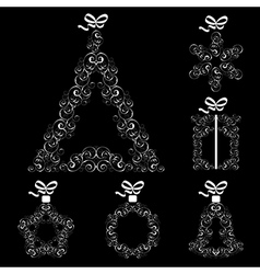 Collection of Christmas elements vector image vector image