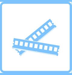 computer memory icon vector image vector image