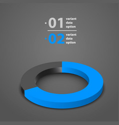 dark wheel chart with shadow vector image vector image