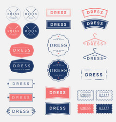 dress studio tailor logo vector image vector image