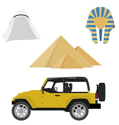 Egypt icon set vector