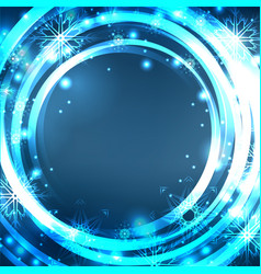 festive blue postcard with glowing sparkles and vector image vector image