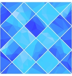Geometric mosaik blue background vector image
