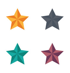 Icon christmas star flat style vector
