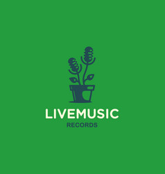 Modern professional sign logo live music vector