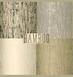 Old bamboo reed texture vector