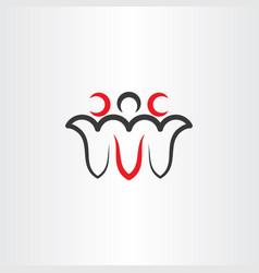 People logo icon design element teamwork vector