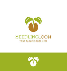 plant emerging from mustard seed vector image vector image