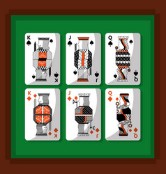 playing cards poker kings and queen spade and vector image