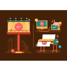 Process of creation outdoor advertising vector