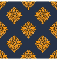 Retro orange seamless pattern vector