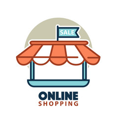 Stand of online store logo vector