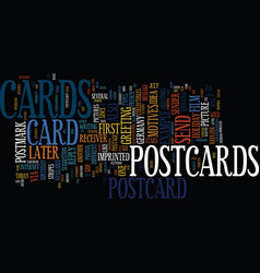 The development of postcards text background word vector