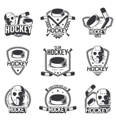 Set of sports logos for hockey vector
