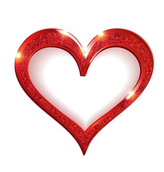 Valentine s day heart symbol red vector