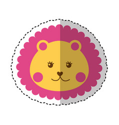 Cute baby lion isolated icon vector