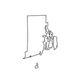 Map of the us state of rhode island vector