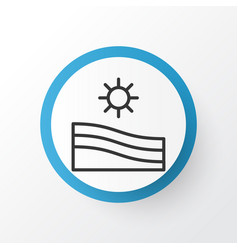 farm field icon symbol premium quality isolated vector image