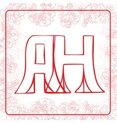 AH monogram vector image