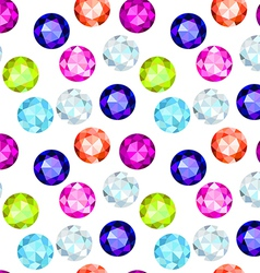 Colored gemstone seamless pattern vector