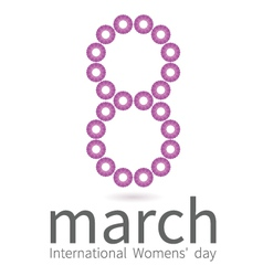 Creative design for International Womens day vector image