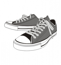 Sneakers shoes vector